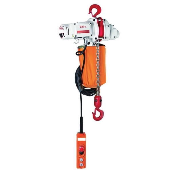 Palan                                   électrique à chaîne avec crochet de suspension (monophasé) 500 kg