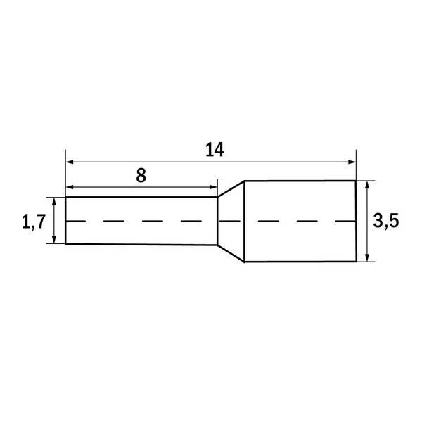 Embout de câblage 1,5 mm² Noir