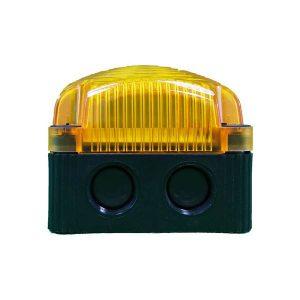 Feu double flash • EVS • orange LED carré pour fixation sur fond plat