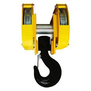 Moufle pour palan 2 réas • Charge 8 t (M5) • Entraxe 215 mm • Pour câble Ø 11-12 mm