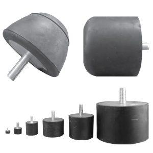 Tampon amortisseur cônique caoutchouc Ø50 x 50 mm • Tige filetée M8 x 20 mm