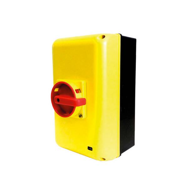 Interrupteur sectionneur 3P cadenassable en coffret •         63 A