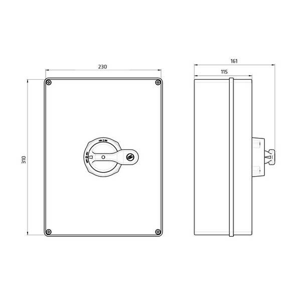 Interrupteur sectionneur cadenassable en coffret 3P • 125 A