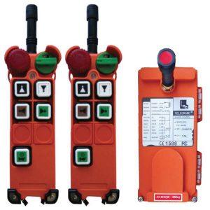 Radiocommande F21-4D – 4 boutons (2 crans) et son émetteur de secours