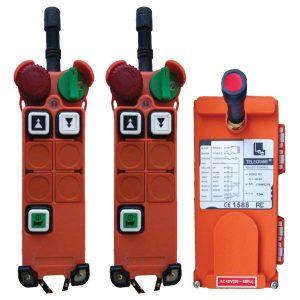 Radiocommande F21-4D-2 – 2 boutons (2 crans) et son émetteur de secours