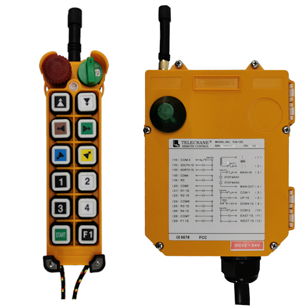 Radiocommande industrielle F24 – 12D • 11 boutons (2 crans)