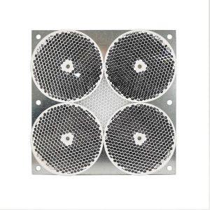 4 Réflecteurs rond sur tôle Ø 84 mm avec bande réfléchissante centrale