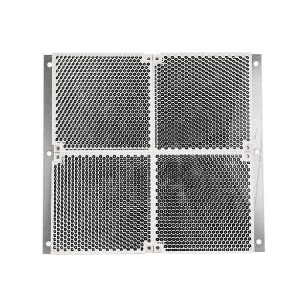 4 Réflecteurs carré 100×100 mm sur tôle 200×200 mm