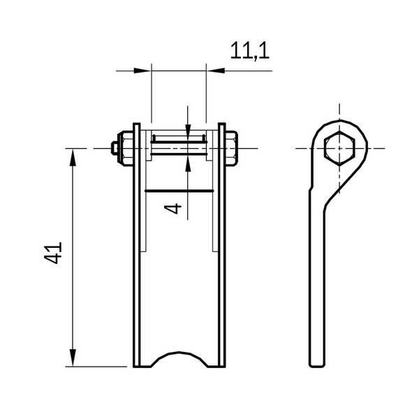 Linguet de sécurité rectangulaire ST3-04