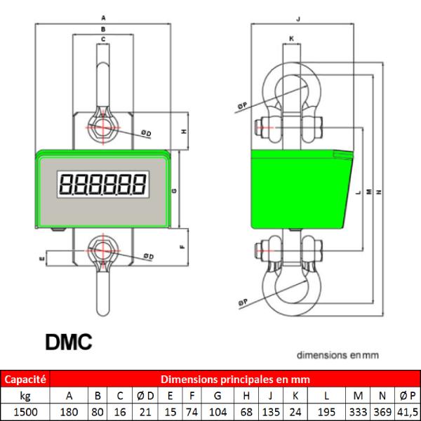 Peson DMC  1 500 kg