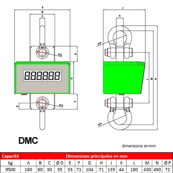 Peson DMC  9 500 kg