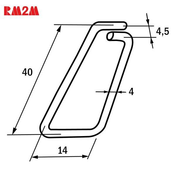 Linguet de sécurité en fil d'acier – Longueur 40