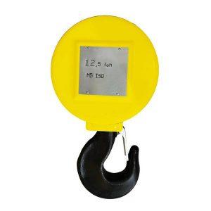 Moufle pour palan 2 réas • Charge 12,5 t (M5) • Entraxe 257mm • Pour câble Ø 12-13mm