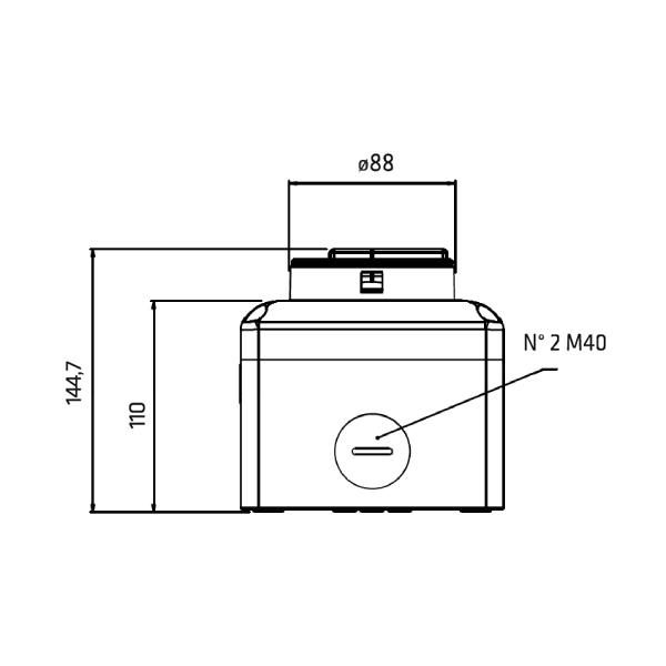 Interrupteur sectionneur 3P cadenassable en coffret acier •   80 A