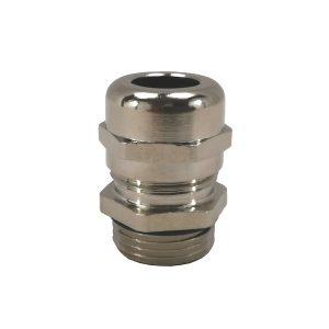 Presse étoupe en laiton nickelé • PG11 • pour câble Ø 5 à 10mm