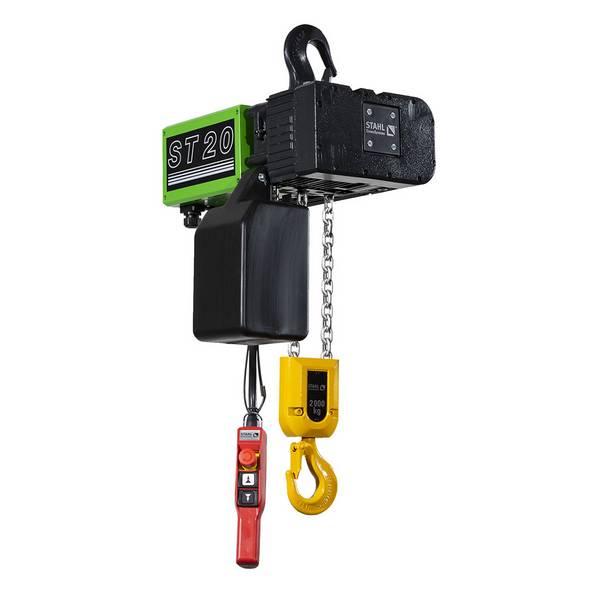 Palan              électrique à chaîne STAHL fixe à crochet (400V triphasé) 2 000 kg
