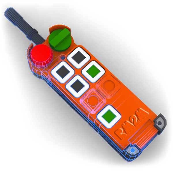 radiocommande industrielle, matériel de levage et de manutention