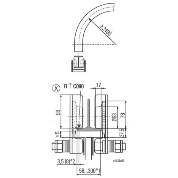 Palan électrique                              à chaîne STAHL avec chariot électrique HPN (400V triphasé) 125 kg