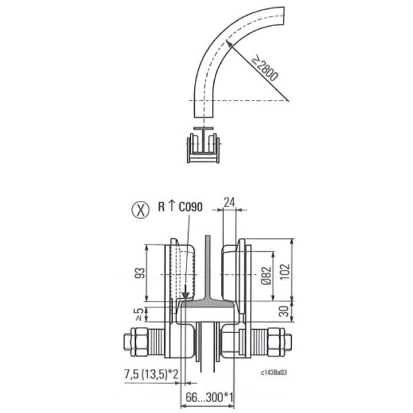 Palan électrique           à chaîne STAHL avec chariot électrique HPN (400V triphasé) 3 200 kg